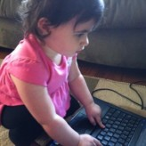 Computer Tricks From a 1 Year Old:  Be Comfortable
